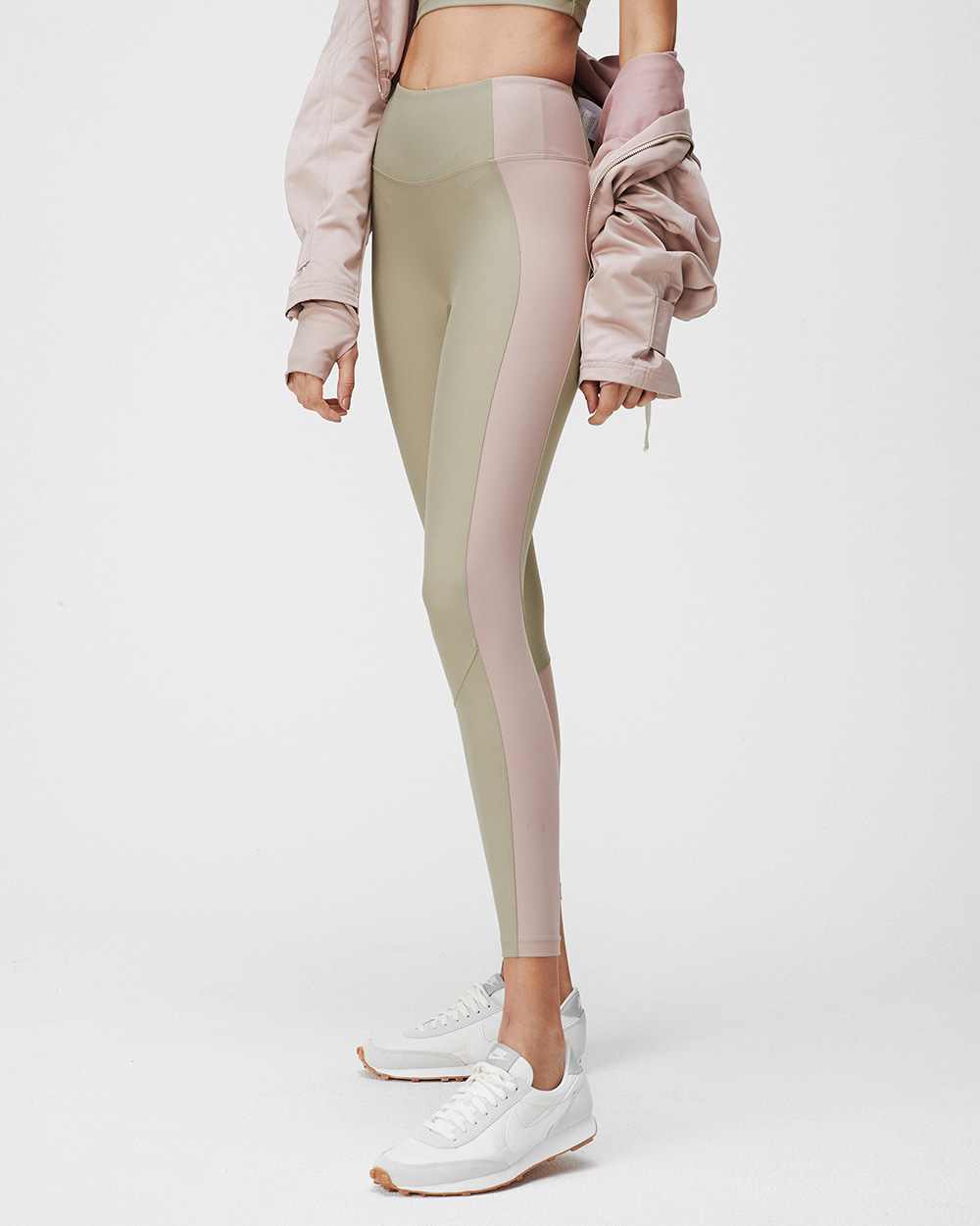 ALEX LEGGINGS SAGE&TERRACOTTA BLUSH COMBO
