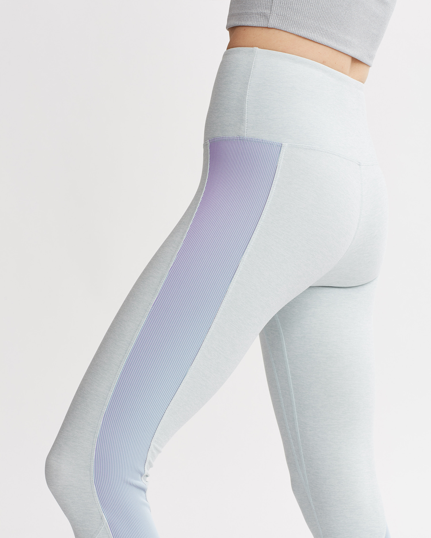 LEVEE LEGGINGS MINT & IRIDESCENT PALE BLUE