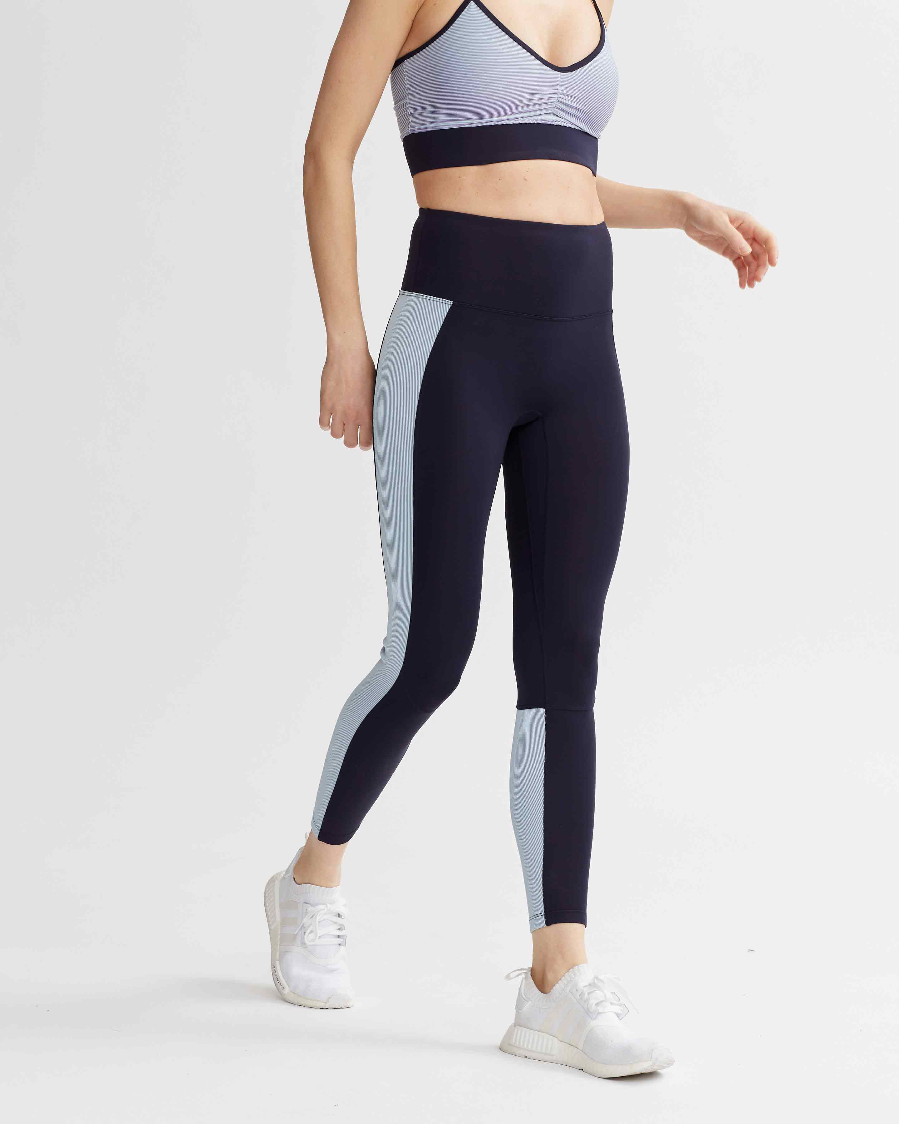 LEVEE LEGGINGS NAVY & IRIDESCENT PALE BLUE